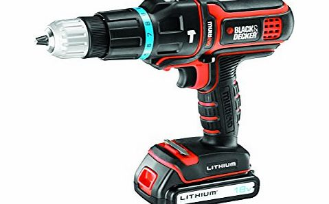 Black + Decker Multievo MT188KB-GB 18V Hammer Drill with Extra Battery
