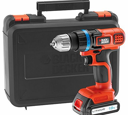 EGBL18K 18v Cordless Drill Driver with 1 Lithium Ion Battery 1.5ah + FREE 2nd Battery Worth £62.95