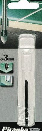 Piranha X53252-QZ 3mm Tile/ Glass Drill Bit