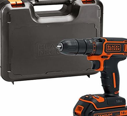 BLACK DECKER BDCDC18K-GB 18 V Drill Driver with Kit Box