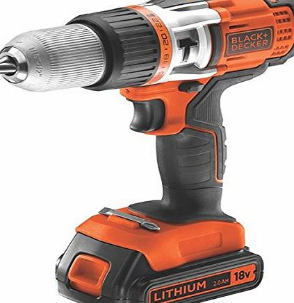 BLACK DECKER Black amp; Decker PSF Basic Electric Cordless Drill 18V/2A 2BAT 2.0AH