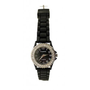 Diamante Womens Watch With Soft Rubber