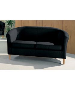 Leather 2 Seater Tub Sofa