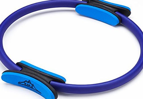Black Mountain Products Unisex Dual Grip Fitness Toning Pilates Ring (Blue)