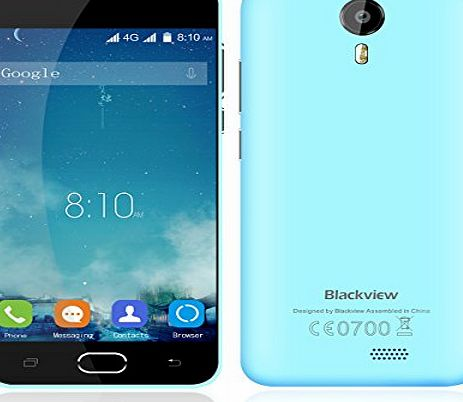 Blackview BV2000 MTK6735 Quad-core 1.0GHz Unlocked Smartphone Android 5.1 5 Inch 1GB RAM 8GB ROM Gesture Function Fashionable Design Mobile Phone