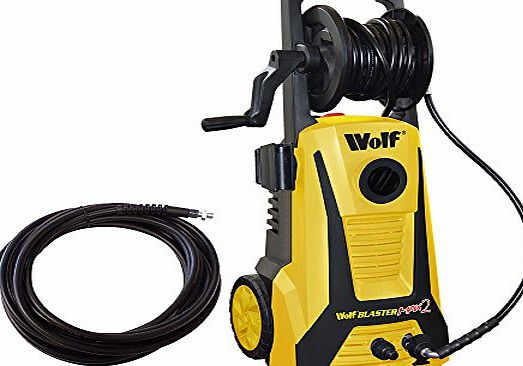 Blaster Max 2 Wolf Blaster Max 2 Pro Power Pressure Washer 2200 Watt 165BAR Pump With New Click and Connect System Plus Accessories Including Patio Cleaner, Car Brush, 5 Metre High Pressure Hose and 15m Extension H