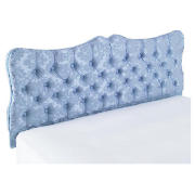 King Headboard, Blue Damask