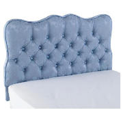 Single Headboard, Blue Damask