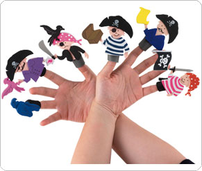 Make Your Own Pirate Finger Puppets