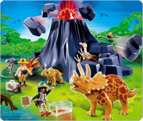 Playmobil Triceratops Volcanic Island