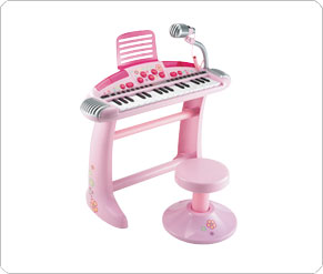 Superstar Cool Keyboard And Stool - Pink