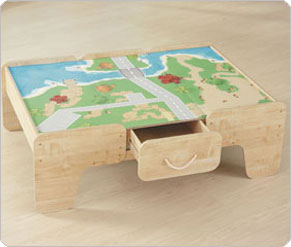 Wood Train Table