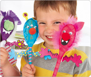 Wooden Spoon Monster Puppets