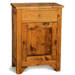 - French Pine Bedside Cabinet