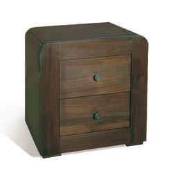 Blue Star - Clifton Walnut 2 Drawer Bedside Table