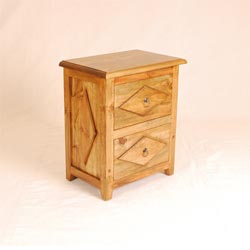 Blue Star - Diamond 2 Drawer Bedside Cabinet