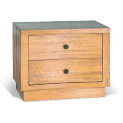 Blue Star - Toulouse Oak 2 Drawer Bedside Cabinet