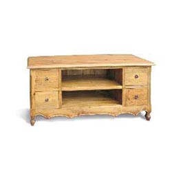 Blue Star - Vintage Pine 4 Drawer TV Stand