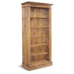 Blue Star - Vintage Pine Bookcase Tall & Wide