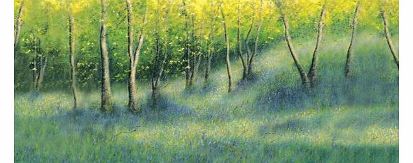 Blue Wood - Fine Art Landscape Blank or General, Occasional, Birthday Greeting Card. Bluebell Woods