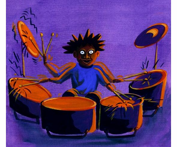 Drummer - Music Themed Fathers Day, Blank or General, Occasional, Birthday Greeting Card.