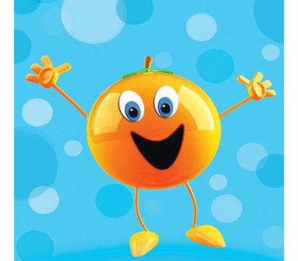 Fruity Orange - Humorous Cartoon Blank Greeting Card or General, Occasional, Birthday Card.