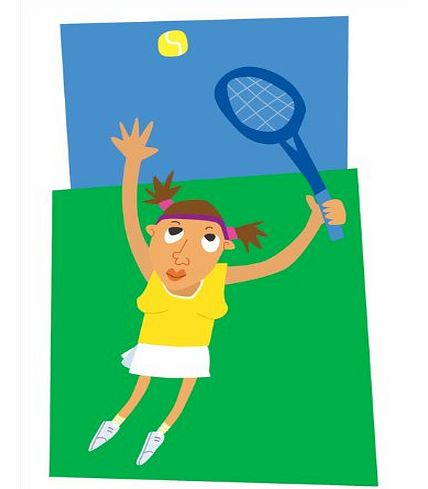 Grand Slam - Sporty Blank, General, Get Well or Birthday Greeting Card. Tennis