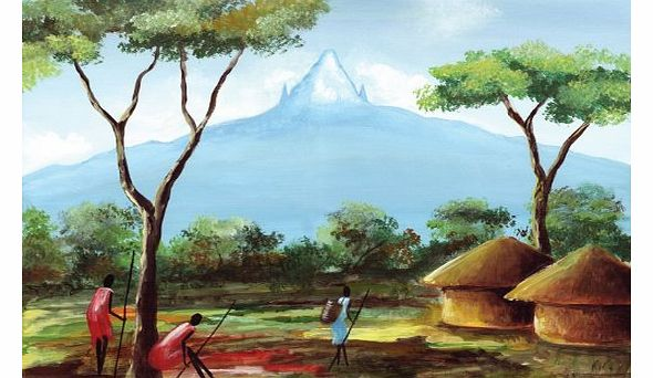 Mount Kenya - Fine Art African Based Blank or General, Occasional, Birthday Greeting Card.