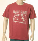 Mens Red T-Shirt With Cream Stitched Large Logo