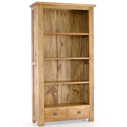 - Breton Pine Bookcase with 2 Drawers