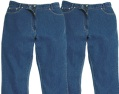 pack of two straight leg rigid jeans