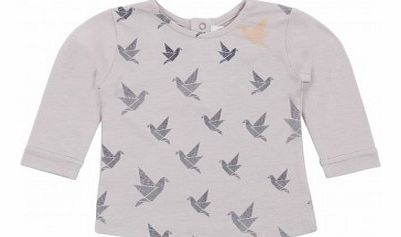 Rare bird T-shirt Pearl grey `6 months,4 years,6