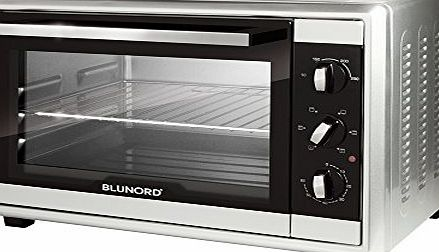 Blunord  Blu F28 Pro - Oven (Freestanding, Electric, Black, Silver, Rotary, Front, Mechanical)