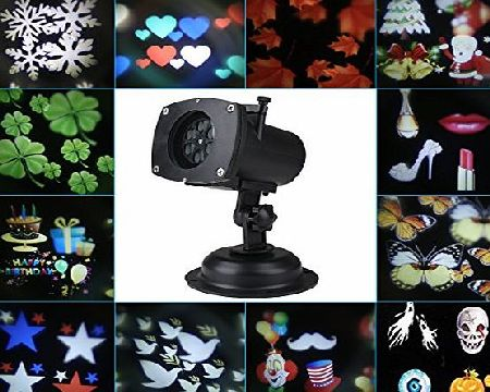 Blusmart Waterproof LED Projection Lamp Motion Projector LED Lights with 12 Replaceable Lens Christmas Lights Indooramp;Outdoor Landscape Lights For Parties amp; Entertaining Environment Durable Sta