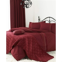 Wine Quilt Cover Set Super King Size