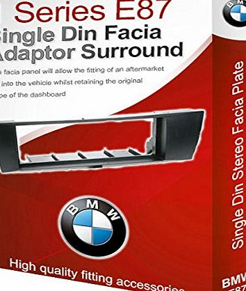 1 Series E87 stereo radio Facia Fascia adapter panel plate trim CD surround
