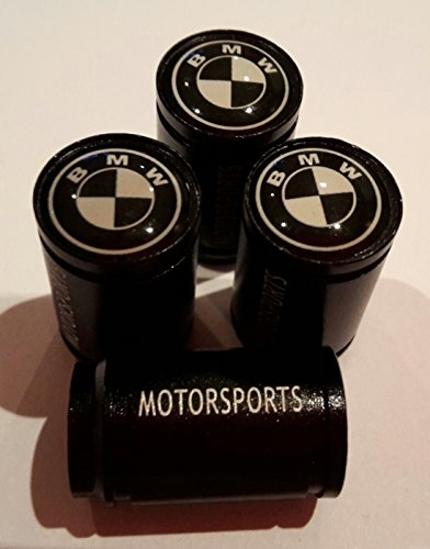 (2) black and white top large black motorsport car Tyre Valve cap DustCap M3 M6 X5 Gran Turismo