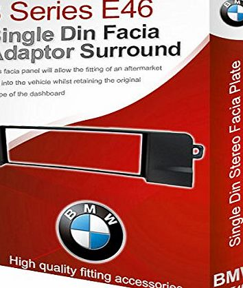 3 Series E46 stereo radio Facia Fascia adapter panel plate trim CD surround