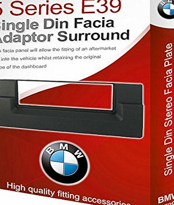 5 Series E39 stereo radio Facia Fascia adapter panel plate trim CD surround