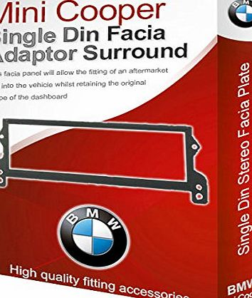 Mini Cooper stereo radio Facia Fascia adapter panel plate trim CD surround