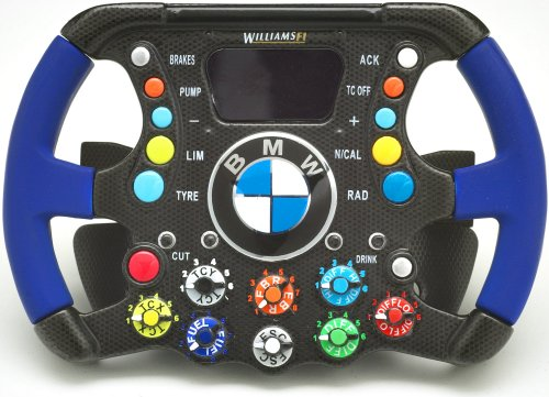 Limited Edition 1/4 Scale Miniature Williams BMW Steering Wheel