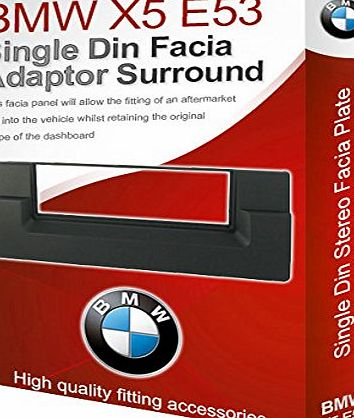 X5 E53 stereo radio Facia Fascia adapter panel plate trim CD surround Single
