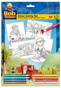 Copywrite Bob The Builder A4 Colour Activity Set