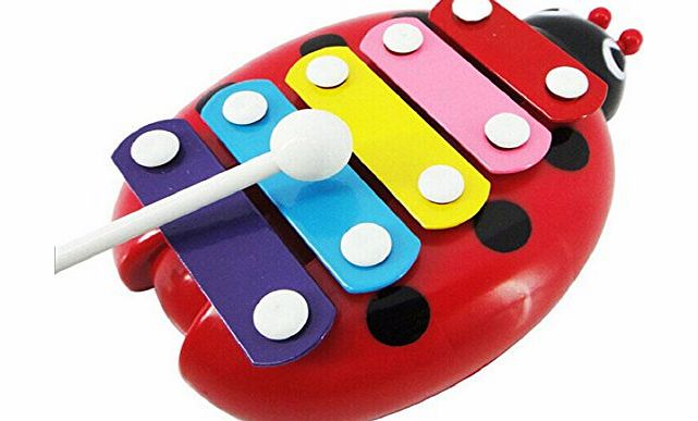 Bocideal TM) Popular Baby Child 5-Note Xylophone Musical Toys (Red)