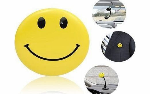 BoddBan HD High Resolution - Yellow Mini DV Smile / Smiley Badge Spy Camera   MP3 Player (DVR amp; MP3) Function - Sport HD Car DVR Spy Camera - Voice amp; Video Recorded with in built MP3 Player
