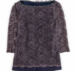 Luxurious Lace Top, Blue,Party Green/Navy,Black