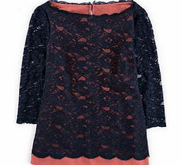 Luxurious Lace Top, Navy/Pink Bronze 34575704