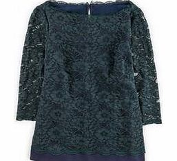 Luxurious Lace Top, Party Green/Navy,Black,Blue