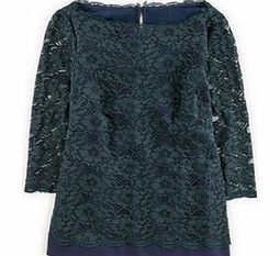 Luxurious Lace Top, Party Green/Navy,Blue,Black