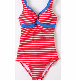 Twist Front Swimsuit, Hibiscus Stripe/China